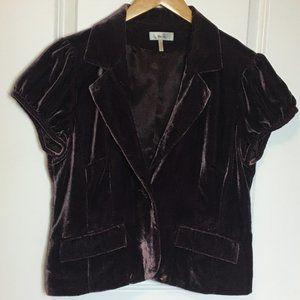Metro7 Velvet Embroidered Short Sleeve Jacket